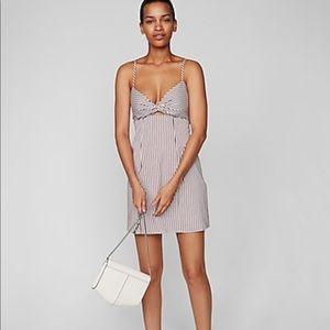 EXPRESS Stripe Twist front mini dress